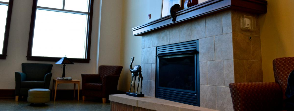 Fireplace n Quiet Reading Room