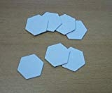 White Cardboard Hexagon Tiles (22 mm)